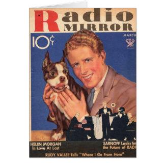 Rudy Vallee e cartão do cão do Scottie