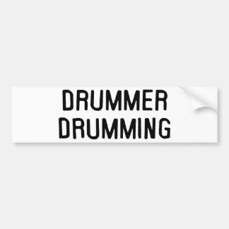 Rufar do baterista adesivo para carro