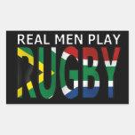 Rugby real África do Sul do jogo dos homens Adesivo Retangular