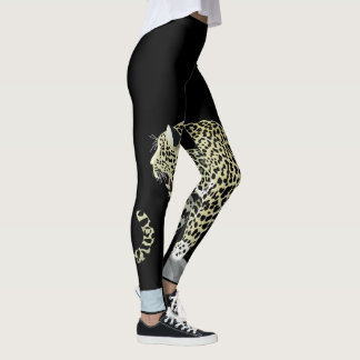 Rugido de Jaguar! Caneleiras Leggings