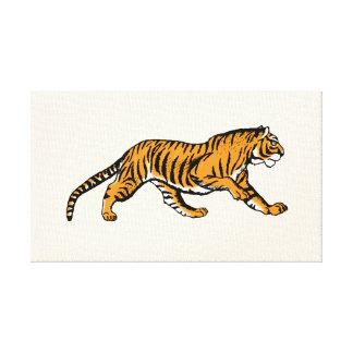 Rugido! Eu sou um tigre! - arte das canvas do