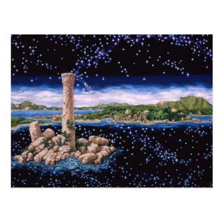Ruína da ilha cartão postal
