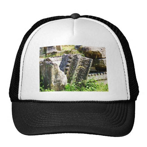 Ruínas antigas em Ephesus Bonés