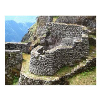 Ruínas da fuga do Inca Cartão Postal