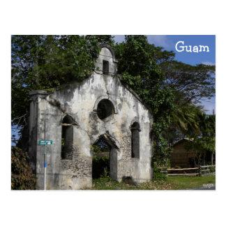 Ruínas da igreja baptista de Guam Cartão Postal