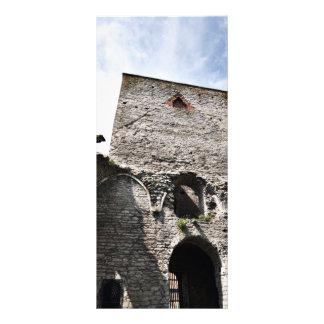 Ruínas da igreja na suecia de Visby Panfleto Informativo Personalizado
