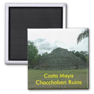 Ruínas de Chacchoben do Maya da costela, Mexixo Ímã Quadrado