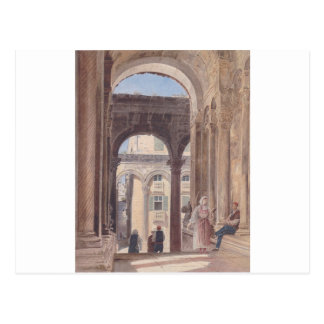 Ruínas de Diocletian em Spalato por Rudolf von Alt Cartão Postal
