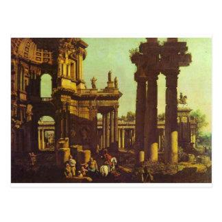 Ruínas de um templo por Bernardo Bellotto Cartão Postal