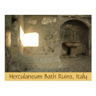 Ruínas do banho de Herculaneum, Campania, cartão