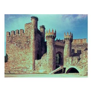 Ruínas do castelo dos cavaleiros Templar Cartão Postal