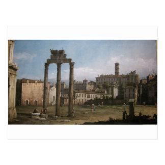 Ruínas do fórum, Roma por Bernardo Bellotto Cartão Postal
