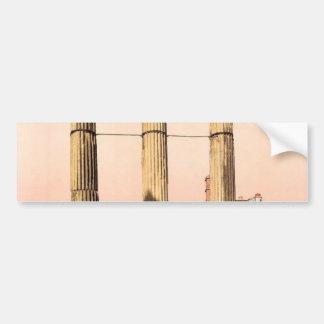 Ruínas do templo do rodízio e do Pollux, Roma, Ita Adesivo