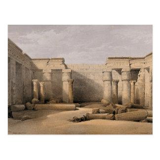 Ruínas em Medinet Abou, Thebes, Egipto Cartão Postal