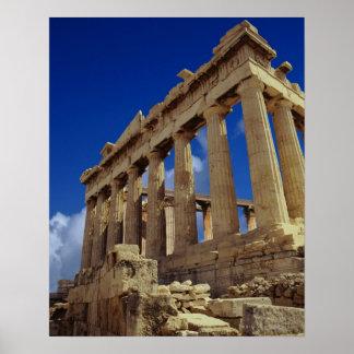 Ruínas gregas, acrópole, piscina poster