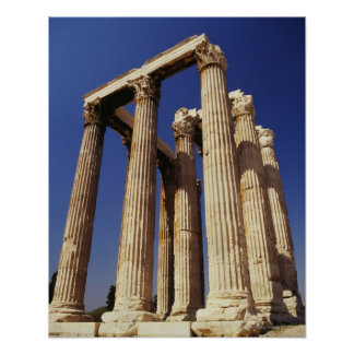 Ruínas gregas, Atenas, piscina Poster