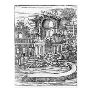 Ruínas romanas cartão postal