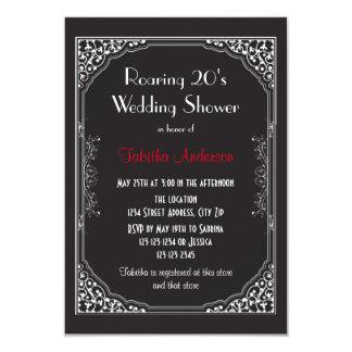 Rujir 20s preto - convite do chá de casamento 3x5
