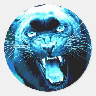 Rujir Jaguar Adesivo Em Formato Redondo