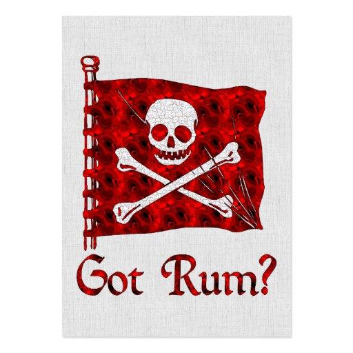 Rum obtido? cartões de visitas