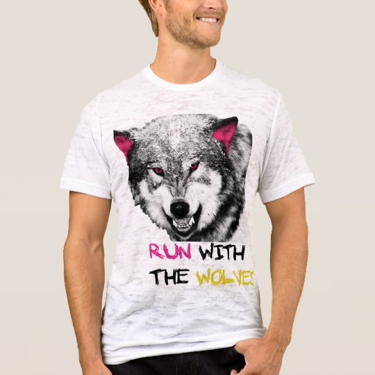 Run with the wolves camiseta
