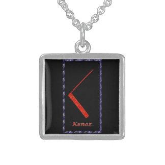 Rune de Kenaz Colares Personalizados