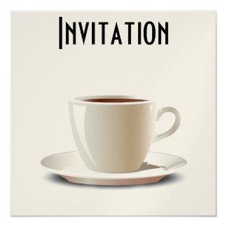 Ruptura de café! convite quadrado 13.35 x 13.35cm