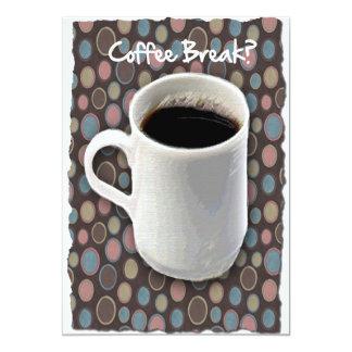 Ruptura de caneca de café e de café dos Ovals Convite 12.7 X 17.78cm