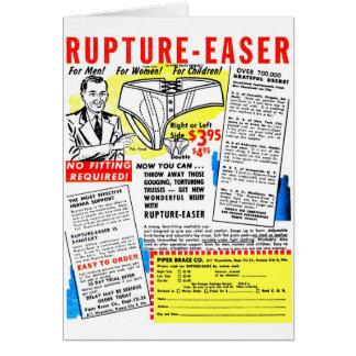 Ruptura-Easer retro do anúncio da banda desenhada  Cartões