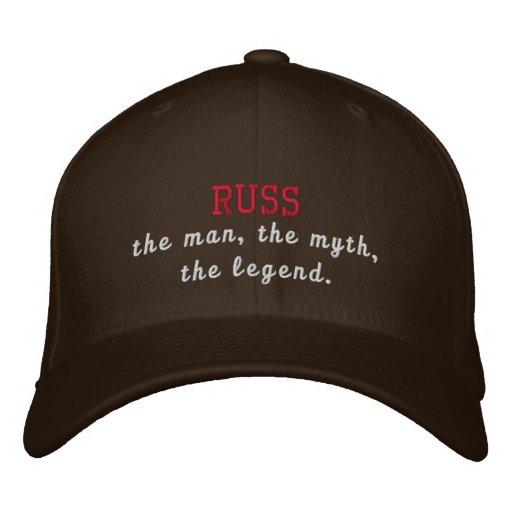 Russ a legenda boné bordado