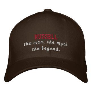 Russell a legenda boné bordado