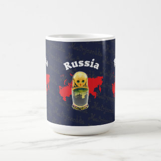 Rússia - Russia Babuschka Matrjoschka taça - Caneca De Café
