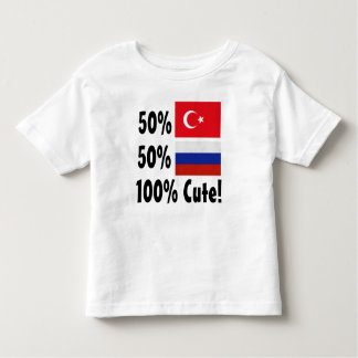 Russo 100% do turco 50% de 50% bonito camiseta infantil