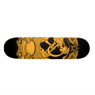 Russo do vintage da grinalda da brasão de União So Shape De Skate 18,7cm