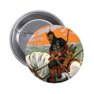 Russo idoso que monta um cavalo bóton redondo 5.08cm