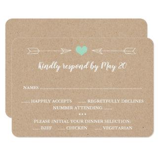 Rústico, celeiro, cartão do convite RSVP do