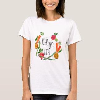 RVA vão design fresco da fazenda da camisa do T