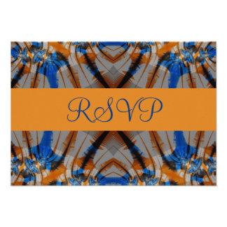 RVP azul e marrom Convite