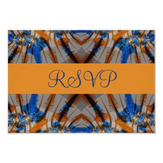 RVP azul e marrom Convite 8.89 X 12.7cm