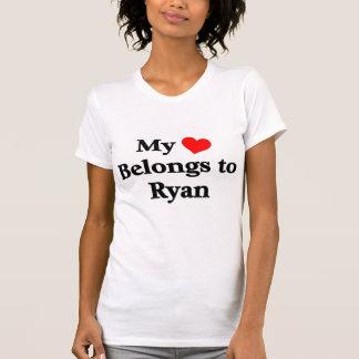 Ryan tem meu coração camisetas