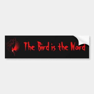 Rybird: O pássaro é o autocolante no vidro traseir Adesivo