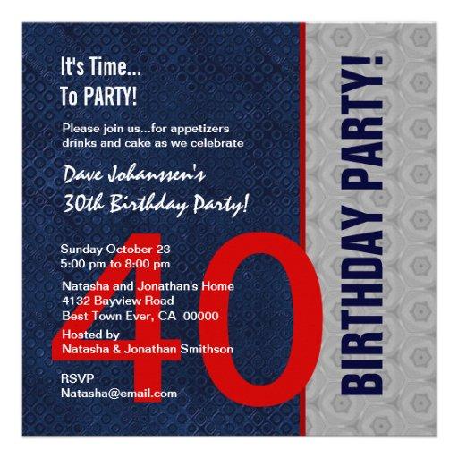 S307 da meia-noite do partido de aniversário de 40 convites