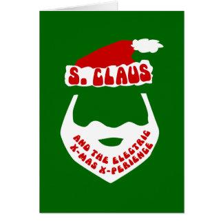 S. Claus e X-Mas elétrico X-Perience Cartão Comemorativo