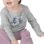 S é para o t-shirt bonito do bebê do cavalo de mar
