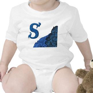 S - O alfabeto de Falck azul Babador