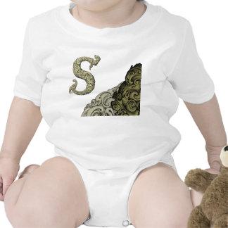 S - O alfabeto de Falck ouro Macacãozinho Para Bebê