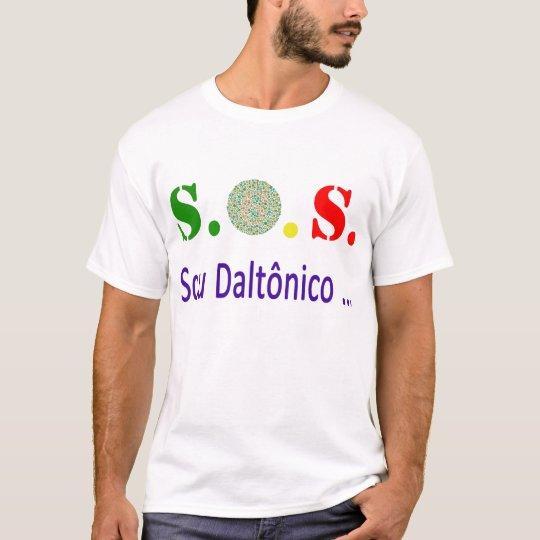 S.O.S. Sou Daltônico Camiseta