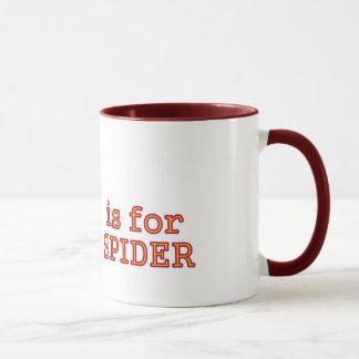 S para a caneca da aranha