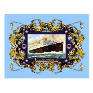 S.S. Navio de passageiro do navio a vapor do vinta Cartão Postal