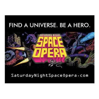 Sábado à noite cartão da ópera do espaço